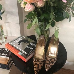 Dolce and Gabbana mohair leopard print heels
